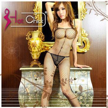 薇珍妮-Hot Chick - 熱情艷吻‧洞洞網狀貓裝連身衣