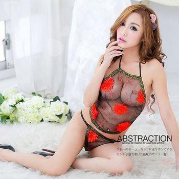 薇珍妮-古典美人.典雅繡花肚兜(紅)