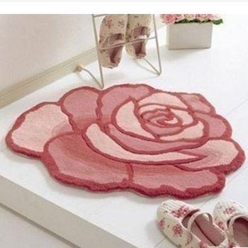 玫瑰花造型電腦椅地毯90*90
