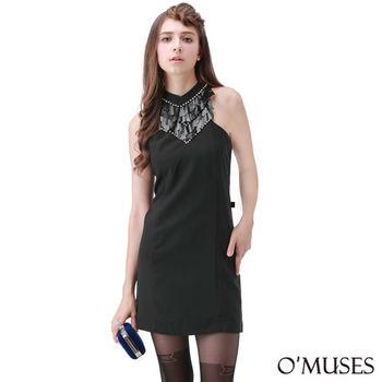 【OMUSES】歐美削肩宴會洋裝37-8670(S-L)