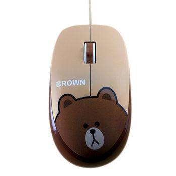 LINE FRIENDS 熊大有線滑鼠
