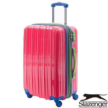 Slazenger ~史萊辛格 24吋 繽紛馬卡龍撞色 旅行箱(魅力紅)