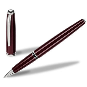 MONTBLANC 萬寶龍領航系列白金夾鋼珠筆-暗紅