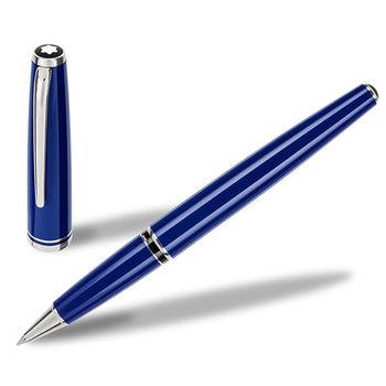 MONTBLANC 萬寶龍領航系列白金夾鋼珠筆-藍 113073
