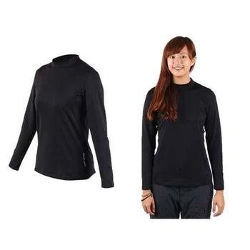 【WILDLAND】女運動T恤-長袖T恤 休閒T恤 刷毛T恤  黑