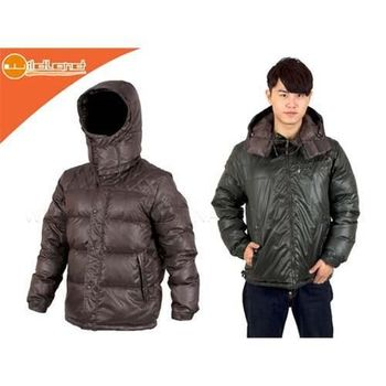 【WILDLAND】男雙面穿羽絨外套-單件式 防風 保暖  深灰