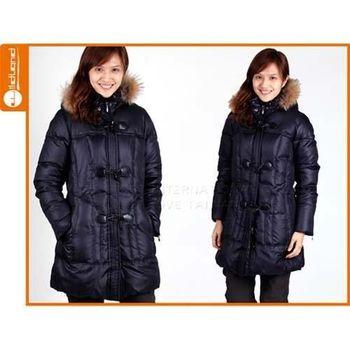 【WILDLAND】女羽絨外套色- 長外套 羽絨大衣 黑