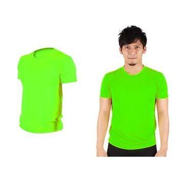 【HODARLA】FLARE 100 男女吸濕排汗衫 短袖T恤 台灣製  螢光綠