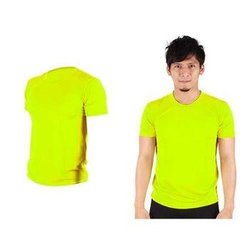 【HODARLA】FLARE 100 男女吸濕排汗衫 短袖T恤 台灣製  螢光黃
