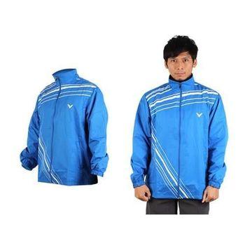 【VICTOR】男運動外套-羽球 立領夾克 勝利  藍