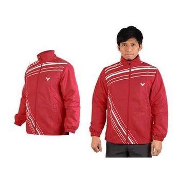 【VICTOR】男運動外套-羽球 立領夾克 勝利  紅