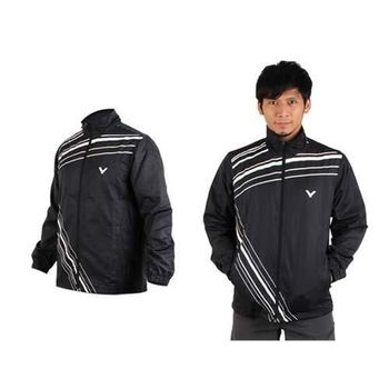 【VICTOR】男運動外套-羽球 立領夾克 勝利  黑