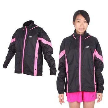 【MJ3】女輕量透明運動夾克-連帽外套 休閒外套 立領外套 黑亮粉紅