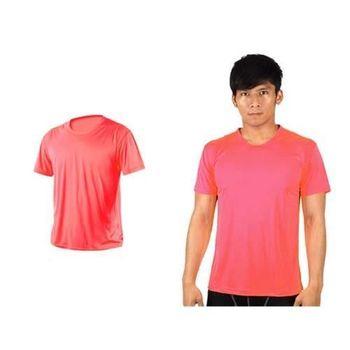 【HODARLA】激膚無感衣 男女涼感短T恤 0秒吸排抗UV輕量吸濕排汗 螢光粉