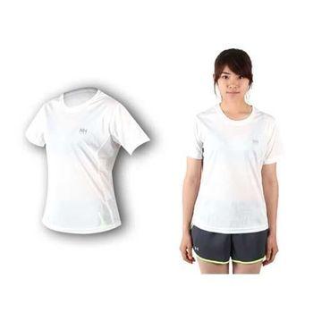 【NatureHike】女短袖運動T恤-慢跑 路跑  白