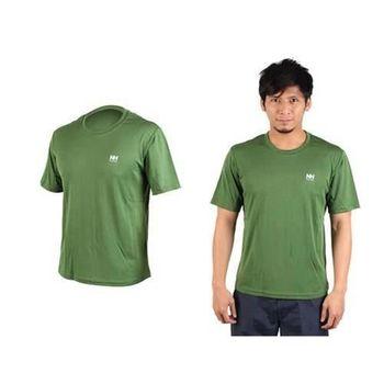 【NatureHike】男短袖T恤-慢跑 圓領上衣 運動短T恤  綠