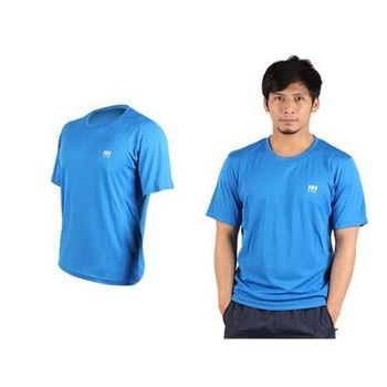 【NatureHike】男短袖T恤-慢跑 圓領上衣 運動短T恤  藍