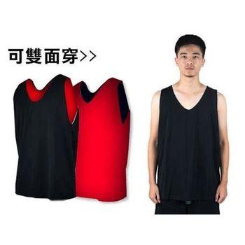 【MJ3】雙面穿男籃球背心-運動背心 休閒背心  黑紅