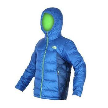 【THE NORTH FACE】男550 FILL羽絨外套-防風 保暖  藍螢光綠