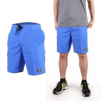 【SPEEDO】男休閒海灘短褲 MARGIC PRINTED-海邊 休閒 游泳 藍