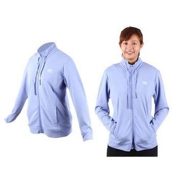 【MJ3】女運動薄外套-休閒外套 立領外套 鳥眼布  藍