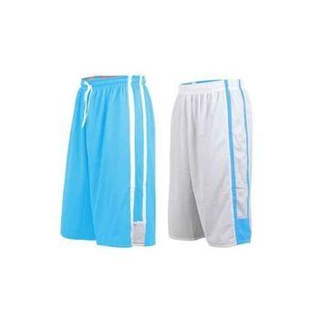 【INSTAR】男女雙面穿籃球褲-運動短褲 台灣製 北卡藍白