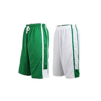 【INSTAR】男女雙面穿籃球褲-運動短褲 台灣製 綠白