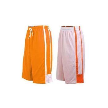 【INSTAR】男女雙面穿籃球褲-運動短褲 台灣製 橘白