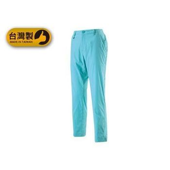 【WILDLAND】女休閒長褲- 台灣製 九分褲 工作褲 抗UV 粉藍
