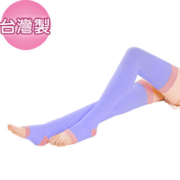 【S LINE BODY】超強版240D懶人魔法美形睡眠襪(膝上襪)