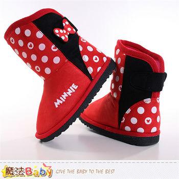 魔法Baby~兒童雪靴 迪士尼米奇授權正版高筒靴~sh8978
