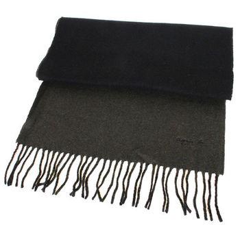 agnes b. 小b.系列流蘇圍巾披巾(深綠黑)