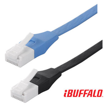Buffalo 獨家專利水晶頭卡榫反折斷 Cat 6平板網路線(15M)
