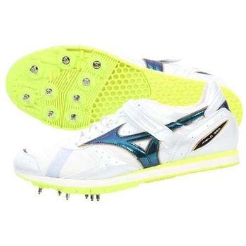 【MIZUNO】FIELD GEO AJ 男女田徑釘鞋 日本製 跳遠 螢光黃白