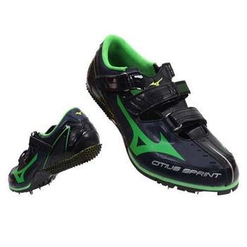 【MIZUNO】CITIUS SPRINT BL 男女田徑釘鞋 短距離  黑綠