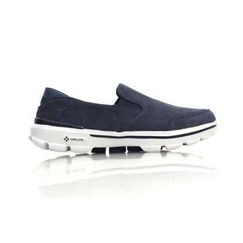 【SKECHERS】GO-WALK 3-TASK 男休閒健走鞋 - 走路 藍灰