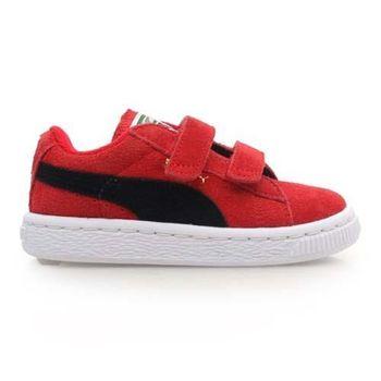 【PUMA】SUEDE 2 STRAPS KIDS 男女童鞋 休閒鞋 復古 黑橘