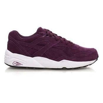 【PUMA】R698 ALLOVER SUEDE 男復古休閒鞋 - 走路 葡萄紫白