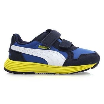 【PUMA】FUTURE ST RUNNER V 男女兒童運動鞋 藍芥末黃