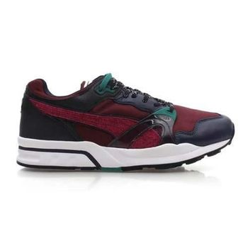 【PUMA】TRINOMIC 1 XT PLUS 男運動鞋-路跑 暗紅墨綠