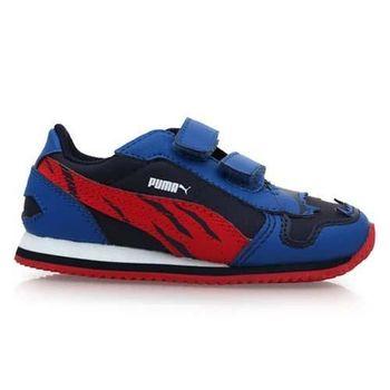 【PUMA】男兒童慢跑鞋-童鞋 運動鞋 藍紅