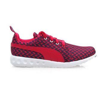 【PUMA】CARSON RUNNER GLITCH WNS 女慢跑鞋- 桃紅藍