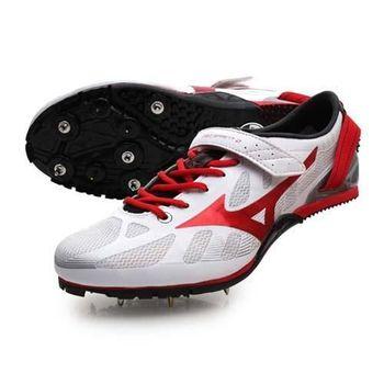 【MIZUNO】GEO SPRINT 2 男女田徑釘鞋 短跑 跨欄 白紅黑
