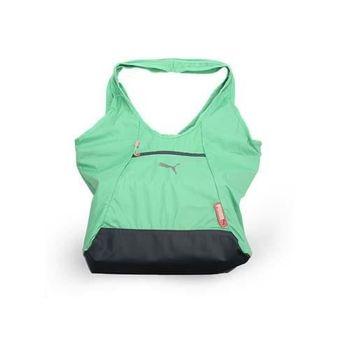 【PUMA】FIT AT 購物袋-單肩包 手提包 淺綠灰