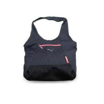 【PUMA】FIT AT 購物袋-單肩包 手提包 深灰梅紅