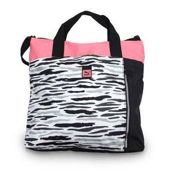 【PUMA】AVENUE 手提包-肩背包 手提包 黑白粉