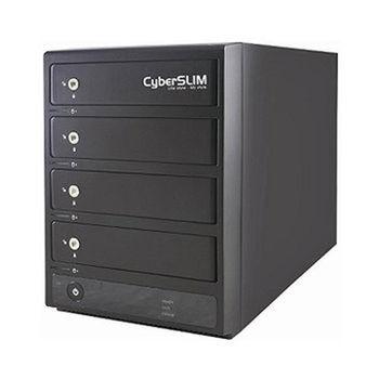 【CyberSLIM 】S84-U3S 3.5吋四層磁碟陣列外接盒