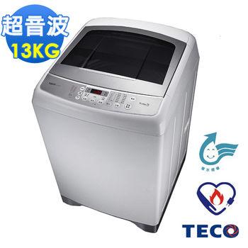 【福利品】TECO東元13公斤靜音變頻超音波洗衣機W1391XW