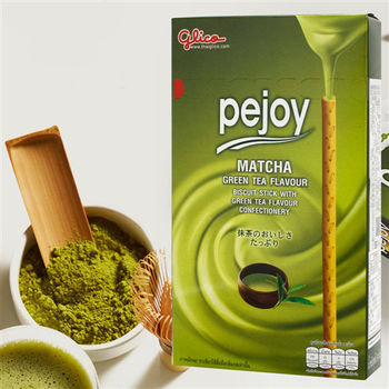 【glico固力果】pejoy 爆漿抹茶巧克力棒x12盒