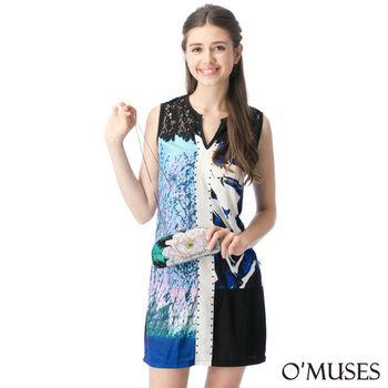 【OMUSES】蕾絲拼接修身洋裝37-8438(S-XL)